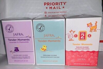 Jafra Tender Moments Fresh Baby Cologne Set Of 3 Special! New And Sealed!