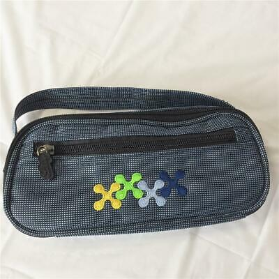 Medication Insulated/Cooler Travel Bag - blue canvas plaid
