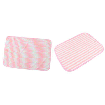2Pcs Waterproof Bed Pad Reusable Underpads Washable Incontinence Aid for Kid