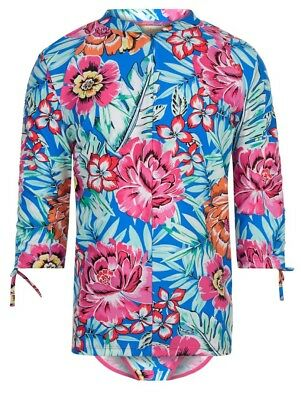 Monsoon Storm Sunsafe Paloma Two Piece Girls Floral Surf Suit Age 7 - 8 Bnwt