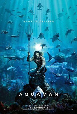 Aquaman - original DS movie poster 27x40 D/S Advance - 2018 DC Momoa
