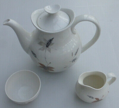 Vintage ROYAL DOULTON Tumbling Leaves 15 PIECE COFFEE SET