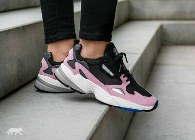 newest 19727 6ed3a Adidas Originals Falcon Running Shoes Women Sneakers B28126 Black Pink Size  9.5