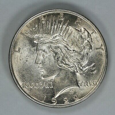 1922 D Peace Silver Dollar $1 Choice Bu Brilliant Uncirculated (9386)