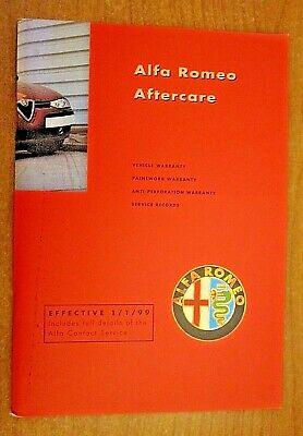 NEW Alfa Romeo Service Book for Spider GTV 145 156 146 166 UNSTAMPED & UNMARKED