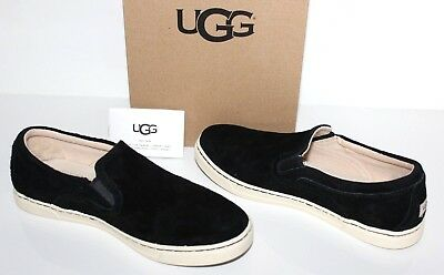 d7c0786b63b UGG AUSTRALIA FIERCE Suede Leather Slip On Sneakers Black Loafers ...
