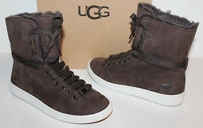 67242b6751f UGG STARLYN CHOCOLATE Sheepskin, Soft Leather Lace-up Booties ...