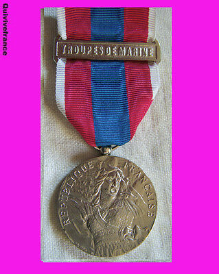 DEC2348 - MEDAILLE DEFENSE NATIONALE TROUPES DE MARINE Classe Argt -  fab Liban