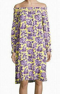 65a3dec6fa2a3 IMNYC NEW Yellow Women's Size Large L Floral Off Shoulder Shift Dress $122  #369