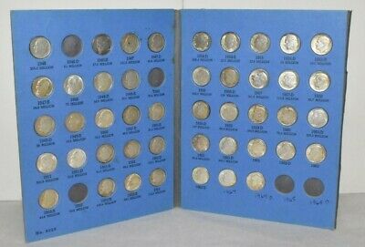 Lot of forty-five (45) Roosevelt Silver Dimes 1946-1964 Exact Coins Shown