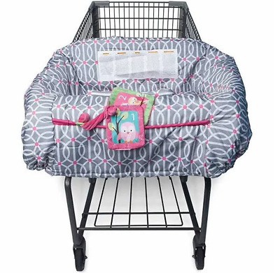 """BOPPY""  Shopping Cart & High Chair Cover, Gray/Pink, NEW IN BOX"