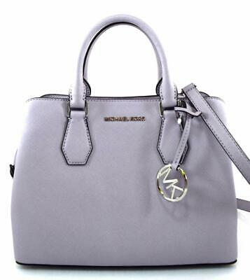 b40ed7f47465 Authentic New Nwt Michael Kors  348 Leather Med Camille Purple Lilac Satchel