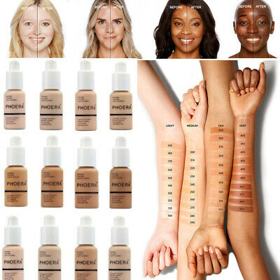 PHOERA Soft Matte Long Wear Foundation Liquid Face Makeup Coverage Foundation