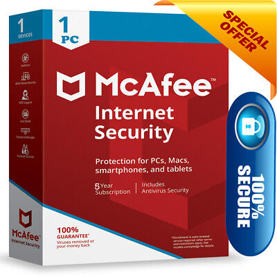 mcafee internet security 2019  1PC/Devices 5Year ✅Instant Delivery🚀