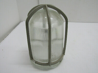 Old Vintage Crouse Hinds Industrial Explosion Proof Light Glass Ceiling Mount