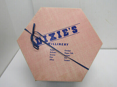 Old Vintage Dixies Millinery Hat Box Department Store Advertising