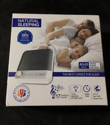 White Noise Maker for baby sleeping, Sound Machine With LED Night Light