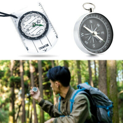 Scouts Military Compass Scale Ruler Base Plate Mini Compass For Camping Hiking J