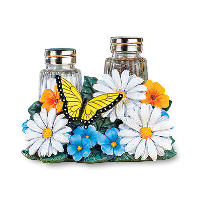 Daisy And Erfly Salt Pepper Shakers Set Decorative Kitchen Accessories