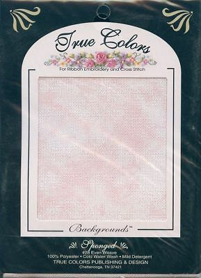 """Embroidery Cross Stitch Background Sponged  New 14"""" x 18""""  by True Colors"""