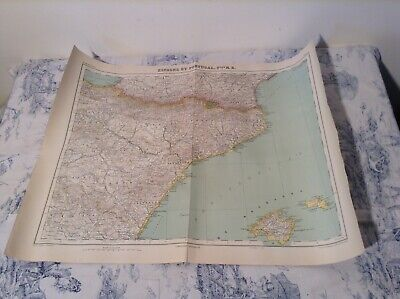 Vintage French Map of Spain & Portugal - Atlas Universel No 22 (2822)
