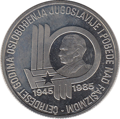 1985 Yugoslavia Tito 100 Dinar Commemorative Proof Coin Liberation from Fascism