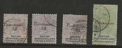 Bechuanaland  Sel.of Used From 1888 Surcharge Set  Sg 41/2, 45 & 46   Fine