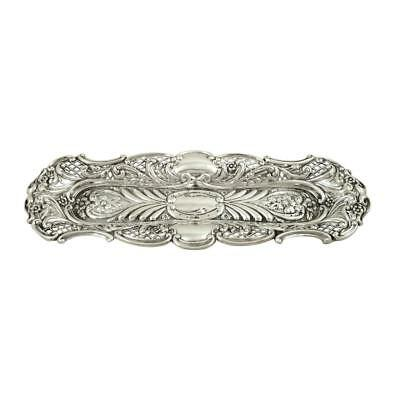 Antique Victorian Sterling Silver Pen Tray / Pin Tray 1899