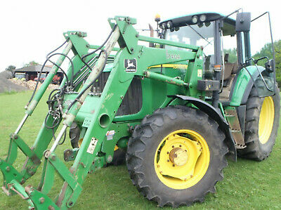 John Deere 6620 Power Quad 740A fore end loader tractor