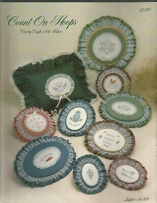 Count On Hoops Country Craft Leaflet 88 Pat Waters Bifold 1984 Cross Stitch