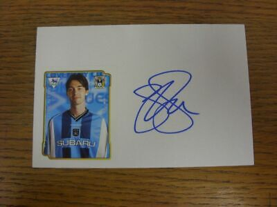 1998/1999 Autographed White Card: Coventry City - Breen, Gary  (Sticker laid dow