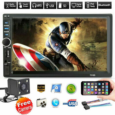 """7"""" Inch DOUBLE 2DIN Car MP5 Player BluetoothTouch Screen Stereo Radio HD+Camera"""