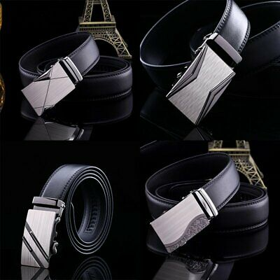 Fashion Luxury Mens Leather Automatic Buckle Waist Strap Belt Waistband TS