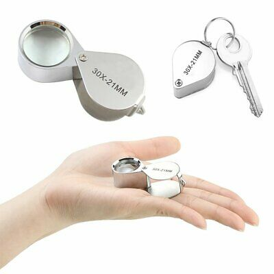 Jewellers Eye Loupe Folding Magnifier Magnifying Glass 30x 21mm Jewelers Read TS