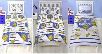 Despicable Me Awesome Minions Reversible Duvet Cover Bedding Set Single Double