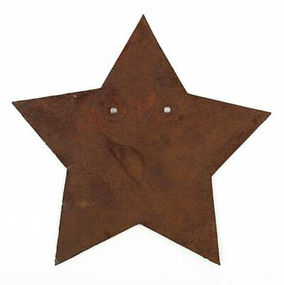 Rusted Metal Stars with Holes for Crafts and Decorating
