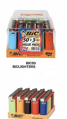 Lot of 50pcs Bic Classic Cigarette Full Size Lighter free shipping