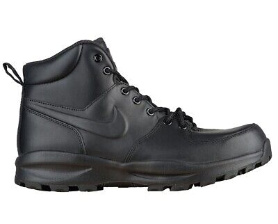 Nike Manoa Leather Mens 454350-003 Triple Black ACG Boots Shoes Size 9
