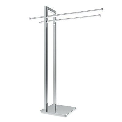 Free Standing Stainless Steel Towel Rack for Bathroom Chrome Finish 31 Inch H