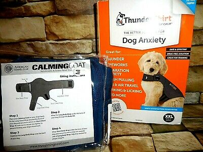 Dogs Choice: THUNDERSHIRT XXL GRAY or American Kennel Club Calming Coat Med Blue
