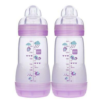 Mam Anti Colic Bottle 2 Pack 9oz - Pink