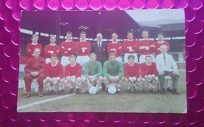 1965 Manchester United Fc The Hornet International Cup Teams Football Photo Card