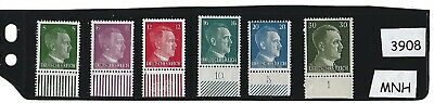 #3908      Small MNH stamp set / Adolph Hitler / Nazi Germany / 1941 Third Reich