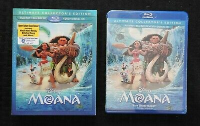 "Walt DISNEY"" Moana "" (Blu-Ray 3D / DVD,2017 ,Disco 2 Set,Incluye Digital Copia)"