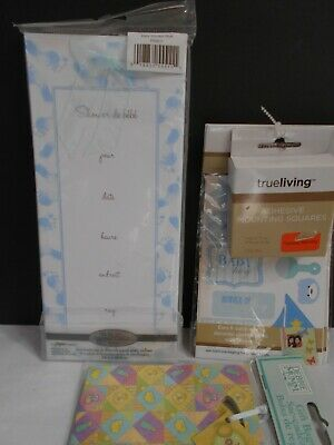 8 Baby Shower Invitations BOY 1 SET BABY PHOTO ALBUM STICKERS 2 MINI GIFTS BAGS