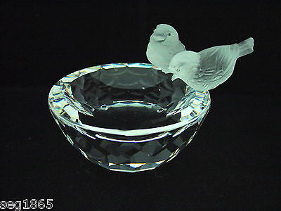 Beautiful Swarovski Crystal Bird Bath Mib