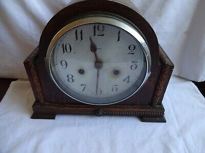 Vintage Antique SMITHS & Oak ENFIELD Art Deco Mantel Clock Wooden Cases