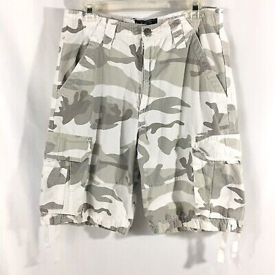 6746d2d0e2 CSG Champs Sports Gear Camo Cargo Shorts White Grey Mens Size 30 Casual