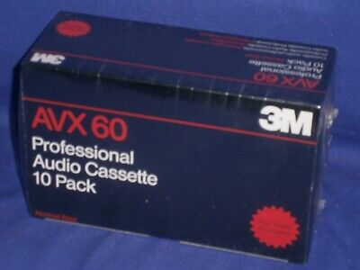 Professional Audio Cassette Tapes by 3M AVX 60 Sealed 10 Pack