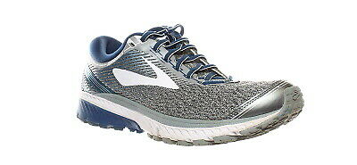 5e49370498d Brooks Mens Ghost 10 Silver Blue White Running Shoes Size 10.5 (253184)